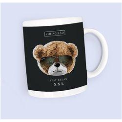 printed word  t-shirt - blue polar - Otter